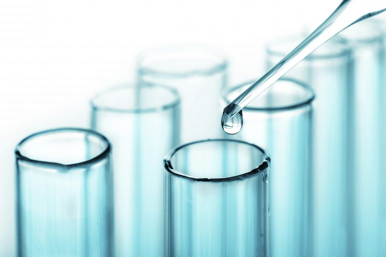 test tubes and pipette